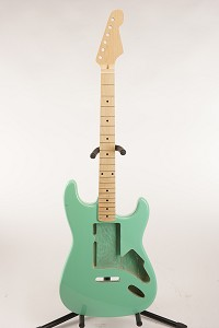 BLEM SPECIAL PURCHASE! Surf Green Double-Cutaway GLUED-IN Setneck, Swimming Pool Rout TOP, Maple F/B