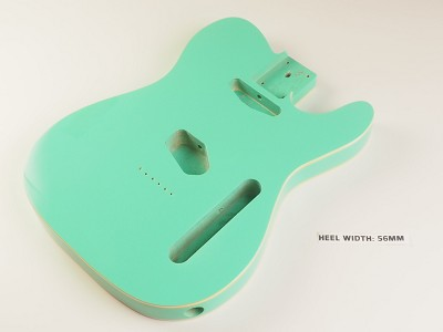 Lightweight Double Bound Telecaster® Style Body Surf Green - Blemished
