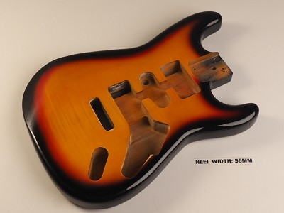 Blem - Double-Cutaway Style Lightweight Body Flamed Maple Top 3Tone Burst