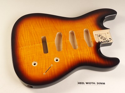 Blem - XGP Arched Top Double-Cutaway Body Flamed Maple 3 Singles Sunburst