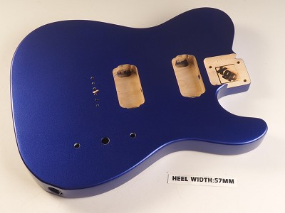Blem - Tele Body cut for 2 Humbucker, White Poplar, Metallic Indigo