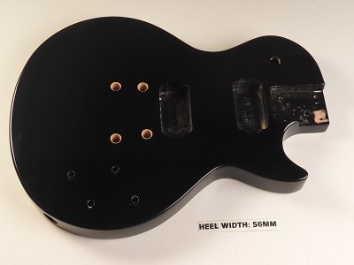 Blem - LP Special Body- SOLID Mahogany- Bolt On Gloss Black Free Rear Plates!