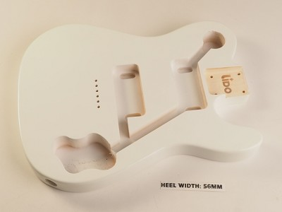 "BLEM - Lido ""Tele Deluxe"", Single cutaway Body Solid Poplar Arctic White"
