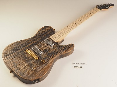 "RETURNED - Slick SL55 Tele Body, ""G"" Scale Neck, GF'Trons, Aged ""Black Ash"" Maple Fingerboard"