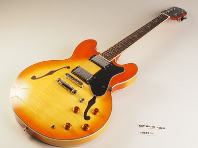 LUTHIER SPECIAL - PRO900 Semi Hollow Kwikplug Alnico Flamed Maple Natural Lemon Drop