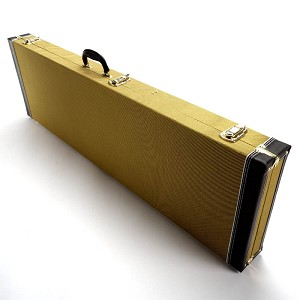 PREMIUM Cloth Tweed P/J Bass Hardshell  Case- SUPER Quality- Our Best!