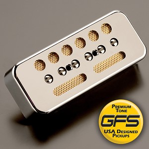 KP - GFS Gold Foil Single Coil Alnico Soapbar, Chrome - Kwikplug™ Ready