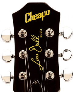 "Waterslide Decal ""Cheapo Less Dull"" Gold Lettering for 3x3 Headstocks"