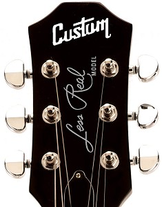 "Waterslide Decal ""Custom Less Real"" Silver Lettering for 3x3 Headstocks"