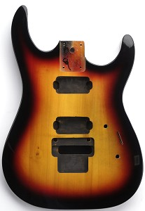 "NEW ""Dinky"" style HH body cut for Floyd Rose Solid Poplar 3-tone Sunburst Free Back Covers"