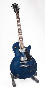 Blue Mahogany LP Style Electric Guitar - Chrome Humbuckers