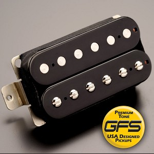 GFS professional Series Alnico V HOT Humbucker Black Case Bridge Pickup