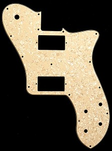 Tele Deluxe 2 Standard Humbucker Pickguard Mother of Pearl