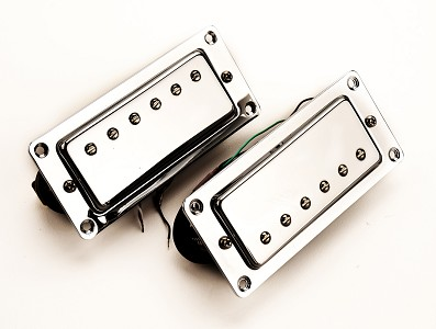Little Crunchy Mini Humbuckers- Chrome Case Calibrated Pair-BELOW COST!