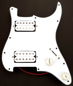 Wired 3-Ply W/B/W Pickguard 2 White PAF Humbuckers - Fits Strat®