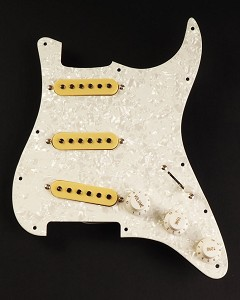 White Pearl Pre-Wired Pickguard Assembly - Fits Stratocaster®