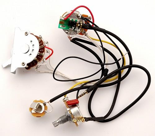 kwikplug 2 humbucker wiring harness, fits strat®/ibanez®/jackson®-  pre-soldered drop-in  guitarfetish