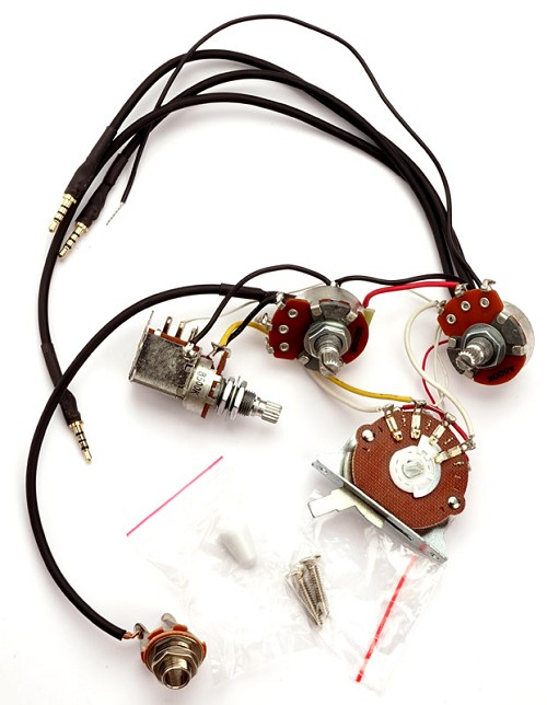 Kwikplug HSS Humbucker Coil Tap Switching Wiring Harness, Fits Strats®- on