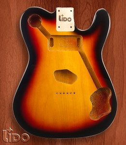"Lido ""Tele Custom"", Single cutaway Body Solid Poplar Sunburst"