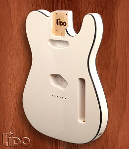 Lido TE Double Bound, Single cutaway Body Solid Poplar Arctic White