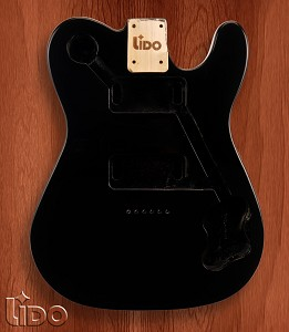 "Lido ""Tele Deluxe"", Single cutaway Body Solid Poplar Gloss Black"