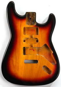 GF Basics ST Style Body, Vintage Sunburst, Full USA Thickness