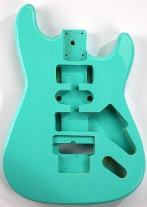 GF Basics Floyd Rose Cut ST Style Body Surf Green Full USA Thickness