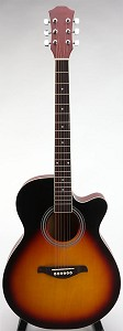 SPECIAL PURCHASE- Fully Bound Brand New Medium Jumbo Acoustic Cutaway-Vintage Sunburst