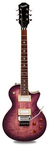 NEW! PRO555 Floyd Tremolo Coil Tap Kwikplug Flamed Maple Top LP PurpleBurst