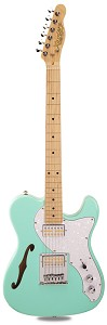 PRO845 Surf Green Thinline Alder Body Kwikplug Gold Foil Pickups Maple