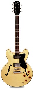 NEW! PRO900 Semi Hollow Kwikplug Alnico Flamed Maple Natural Clear Gloss