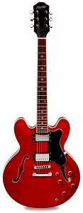 "NEW! PRO900 Semi Hollow, Coil Taps, Kwikplug Alnico Fat Pats ""Vintage Cherry"""