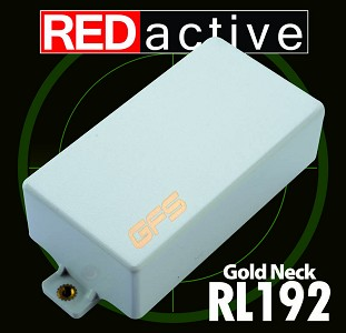 REDactive Gold Modern Humbucker Active Neck White