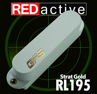 REDactive Gold Modern Sound Strat Active White