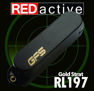 REDactive Gold Modern Sound, Fits Strat® Active Black
