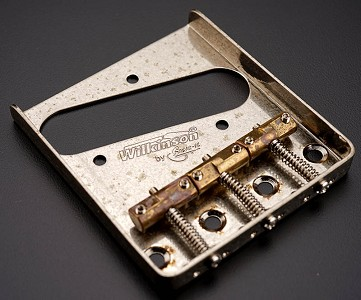 RELIC Aged Wilkinson Compensated Bridge - Fits Telecaster® - Brass Saddles