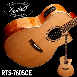Flamed Maple Xaviere CEDAR Top Premium Acoustic/electric Cutaway All Wood Construction