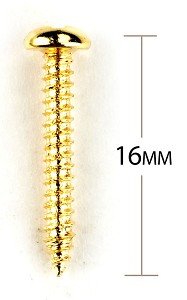 Gold Tremolo Screws for Xtrem or Bigsby - Package of 12 pcs.