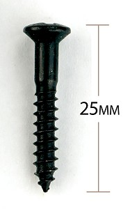 Black Import Topmount Bridge Mounting Screws - Package of 12 pcs.