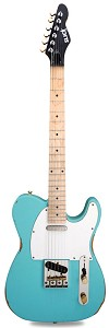 "Slick SL51 Aged ""Daphne Blue"" Dual Telecaster Pickups, Maple Fingerboard"