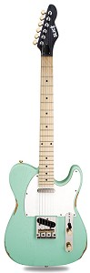 "Slick SL51 Aged ""Surf Green"" Dual Single-Coil Pickups, Maple Fingerboard"