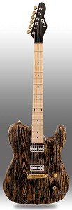 "Slick SL55 Tele Body, ""G"" Scale Neck, GF'Trons, Aged ""Black Ash"" Maple Fingerboard"