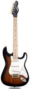 Slick SL57 Aged Vintage Sunburst Maple Fingerboard Alnico Pickups
