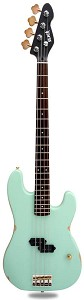 Surf Green Slick SLPB Solid Ash Bass Guitar Hand Aged SLick Alnico Pickup