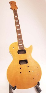 "Set-Neck Special - Finished, Natural, Flamed, ""LP Style"" Guitar, HH with Binding"