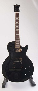 "Set-Neck Special - Gloss Finish, Black, ""LP Style"" Guitar, HH, with Binding"