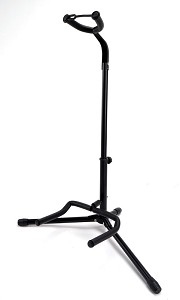 Tubular Collapsible Adjustable Guitar Stand, Neoprene padded, locking