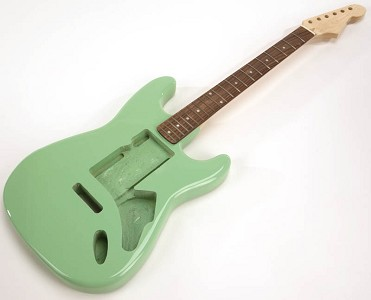 SPECIAL PURCHASE! Surf Green Strat Style GLUED-IN Setneck, Swimming Pool Rout TOP, Rosewood F/B