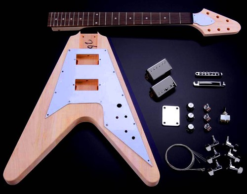 Vintage V Kit- Mahogany Body Maple Neck with Rosewood Fingerboard,