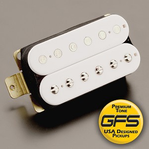 KP - Alnico Fat Pat Boutique Alnico Humbucker, White - Kwikplug™ Ready